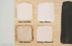 """Diferentes acabados de las ceras con chalk paint, toda la info en la """"Guía de la pintura Chalk Paint"""" by @idoproyect"""