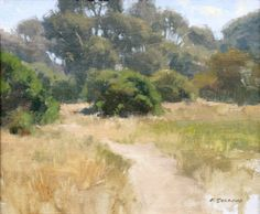 """Douglas Preserve Study"", Oil, x Frank Serrano, Plein Air Artist, Plein… Famous Landscape Paintings, Landscape Artwork, Seascape Paintings, Oil Paintings, California Art, Arte Floral, Large Painting, Plein Air, Fine Art Gallery"