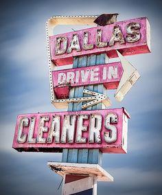 Dallas vintage sign