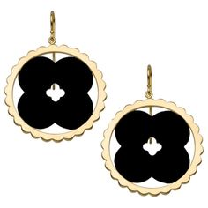 Asha by ADM Lily found on Polyvore featuring jewelry, earrings, black, 14k earrings, disc earrings, earrings jewelry, carved jewelry and 14 karat gold jewelry