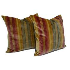 striped silk velvet cushions - Google Search Velvet Cushions, Throw Pillows, Silk, Google Search, Lighting, Toss Pillows, Cushions, Decorative Pillows, Lights