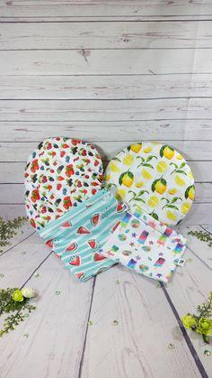 De nouveaux tissus sont disponibles sur la boutique! Baby Room Storage, Kids Storage, Beeswax Food Wrap, Bean Bag Covers, Fabric Bowls, Textiles, Tree Shapes, Retro Futuristic, Leftover Fabric