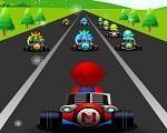 Em Mario Fast Race, junte-se ao Mario neste super aventura em uma corrida completamente maluca. Ajude Mario dirigir o seu poderoso kart e comece a correr. Você tem um tempo limite para superar todos os seus adversários. Divirta-se com o Mario!
