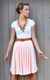 orange circle skirt outfit - Google Search