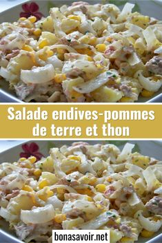 Endive salad with potatoes and tuna - Page 2 - Good To Know - dominique MOULIN salad with egg mayonnaise Potato Salad Recipe Easy, Easy Salad Recipes, Healthy Eating Recipes, Healthy Family Dinners, Easy Meals, Easy Chicken Dinner Recipes, Recipes Dinner, Food, Egg Mayonnaise