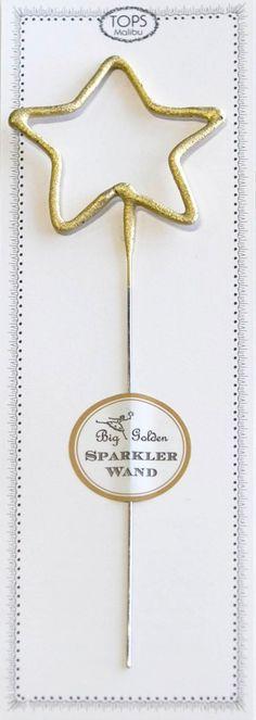 Golden Sparkler Star Wand