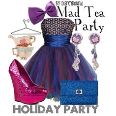 A Disney inspired outfit for Alice In Wornderland's Mad teaparty. It is a really cute dress!