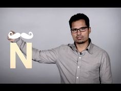 Ñ IS AN N WITH A MUSTACHE. Watch this 1:30 min video where Michael Peña encourages English-speakers to use the letter Ñ when speaking Spanish. It is so funny, that it deserves a LIKE and a Repin!