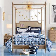 Colette Canopy Bed #pbteen
