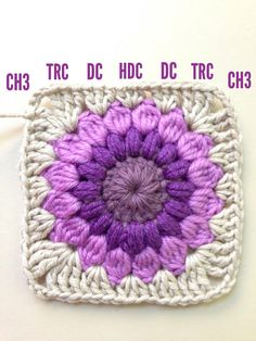 Crochet Granny Squares Blanket AnnieColors: Sunburst Granny Square Pattern, thanks so xox Point Granny Au Crochet, Granny Square Pattern Free, Crochet Motifs, Granny Square Crochet Pattern, Crochet Squares, Crochet Afghans, Free Pattern, Crochet Blocks, Granny Square Tutorial