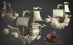 3d Artwork, Fantasy Artwork, Steampunk Airship, Mars Attacks, Environment Design, Weird Art, Battleship, Middle Ages, Game Design
