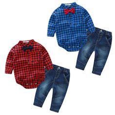 Wyatt Gingham Jeans Set
