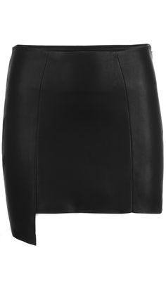 Mrin Lambskin Leather Skirt Front