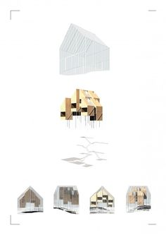 Zoe Ella. Victoria University, Wellington NZ.  http://cargocollective.com/zoeella Exploded Axonometric | Render | Greenhouse | Architecture | VUW | ARCI211