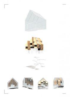 Zoe Ella. Victoria University, Wellington NZ.  http://cargocollective.com/zoeella Exploded Axonometric | Render | Greenhouse | Architecture | VUW | ARCI211