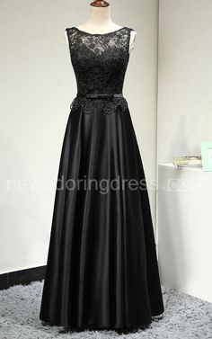 US$98.00-Sleeveless Lace Top Satin Black Bridesmaid Dress With Belt, elegant bridesmaid dress. http://www.newadoringdress.com/sleeveless-lace-top-satin-dress-with-belt-pET_102724.html. Find your dream 2016 new styles unique bridesmaid dresses to complete your bridal party @www.newadoringdress.com. Affordable bridesmaid dresses at amazingly prices.  #NewAdoringDress.com