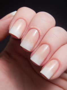 Chalkboard Nails: 31DC2012: Day 10, Gradient Nails - love this  nude/French gradient manicure! - nail art