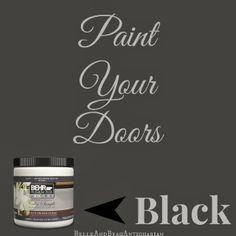 #Painted #Black #Doors Belle & Beau Antiquarian