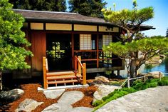 Japanese Home Design with Garden