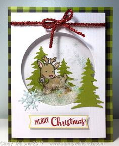 Stamp with Cindy!: Paper Pumpkin meets Seasonal Chums Stamp with Cindy !: The paper pumpkin meets the … Create Christmas Cards, Christmas Paper Crafts, Stampin Up Christmas, Christmas Deer, Handmade Christmas, Holiday Cards, Scrapbooking, Beautiful Handmade Cards, Christmas Scrapbook