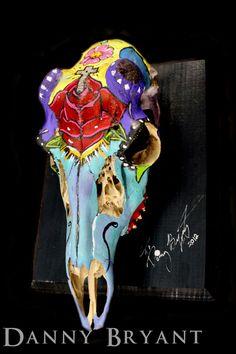 Day of the Dead Deer Skull by HerDyingBreathStudio on Etsy, $225.00