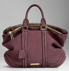 ~~ Burberry Large Luggage Suede Tote ~~