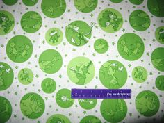 Dr. Seuss The Cat In The Hat Lorax Horton + Green Dots Cotton Fabric By The Half Yard by DaMommasTextiles on Etsy