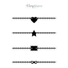 Very Sisters - Tatouages éphémères bracelets