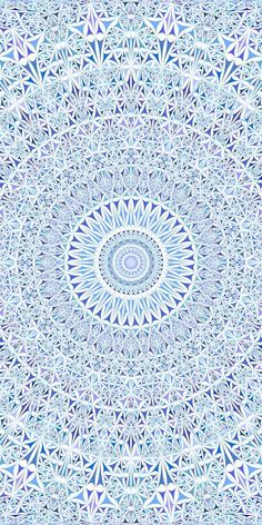 Blue seamless kaleidoscope pattern background design - abstract geometrical vector mandala wallpaper illustration from curved triangles Mandala Wallpaper, Pattern Wallpaper, Blue Backgrounds, Wallpaper Backgrounds, Iphone Wallpaper, Wallpapers, Triangle Background, Background Patterns, Mandala Pattern