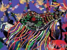 Boi Bumbá/bumba meu boi: dança com personagens humanos e animais fantásticos sobre a morte e ressurreição de um boi.