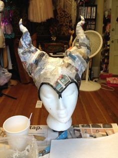 revamping, rearranging: consider having students make a 3-D headdress that is then worn/modeled in their alter ego project. Really, an alter-ego headdress...hmmm