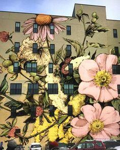Super Ideas For Street Art Graffiti Urban Murals Beautiful Murals Street Art, Street Art Banksy, Graffiti Wall Art, Art Mural, Garden Mural, Urban Street Art, New York Street Art, Urbane Kunst, Sidewalk Art