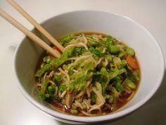 En verden af smag!: Kinesisk Nudelsuppe med Edamamebønner