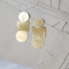 annie costello brown  Popova Disc Earrings