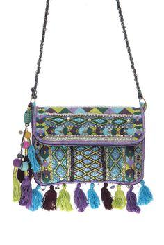 Mini Bohemian Hand Made Embroidery Deco Canvas Tassels Messenger Bag #GetEverythingElse #MessengerCrossBody