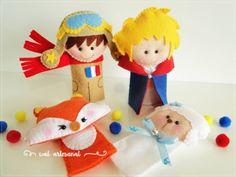 Felt Finger Puppets The Little Prince Felt Puppets, Felt Finger Puppets, Little Prince Party, The Little Prince, Fleece Crafts, Felt Crafts, Diy For Kids, Crafts For Kids, Toys For Tots