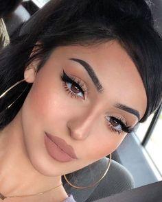 Makeup Eye Looks, Cat Eye Makeup, Nude Makeup, Glam Makeup, Pretty Makeup, Makeup Inspo, Eyeshadow Makeup, Makeup Inspiration, Hair Makeup