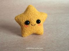 Needle Felted Kawaii Star. This is so adorable!