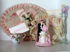 On a shelf in my studio. by littlepinkstudio, via Flickr