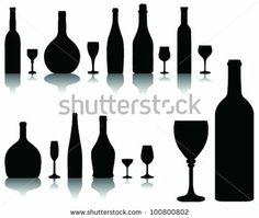 bottle of wine silhouette - Google Search