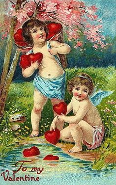 Valentine cherubs