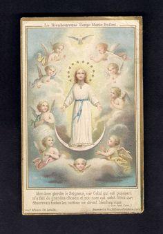 Antique Goldprint  Holy Card ** The Blessed Child Virgin Mary ** Boumard & Fils