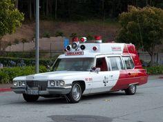 Bayshore Ambulance. Foster City, Ca.  Vintage Cadillac