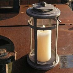 Round Rustic Lantern -The Worm that Turned  #candlelight #outdoors
