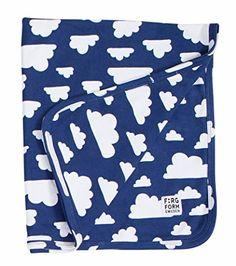 Farg Form Blue Cloud Baby Blanket