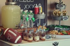 Football Birthday Party Ideas | Catch My Party #football #superbowl #party