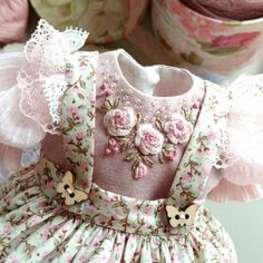 💮Dress for doll 💮BoosiNKa💮( Sewing Doll Clothes, Baby Doll Clothes, Sewing Dolls, Doll Clothes Patterns, Barbie Clothes, Clothing Patterns, Frocks For Girls, Little Girl Dresses, Baby Born Kleidung