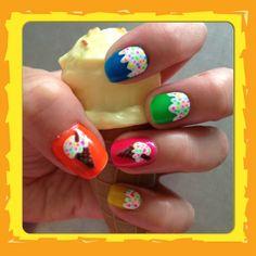 Summer nail art - ice creams ☀
