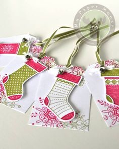 Stitched Stockings Gift Tags by Scraps Of Life - Cards and Paper Crafts at Splitcoaststampers