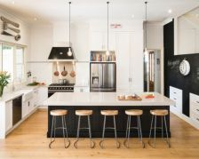 Contemporary kitchen gallery with amazing photos of contemporary kitchens built by Smith & Smith Kitchens Kitchen Cabinets Decor, Farmhouse Kitchen Cabinets, Farmhouse Style Kitchen, Kitchen Cabinet Design, Kitchen Countertops, Modern Countertops, White Countertops, Shaker Kitchen, Kitchen Sinks